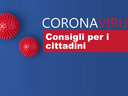 Coronavirus: consigli ai cittadini